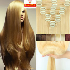 Full Head Very Thick 200g 20% OFF Clip In Real Remy Human Hair Extensions U277