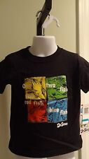 """New Dr. Seuss Infant """"One Fish, Two Fish"""" Black Tee: Sizes 12, 18 & 24 months"""