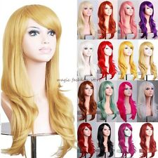UK Long Layer Straight Full Head Wig Cosplay Party Fancy Dress Factory Price D63