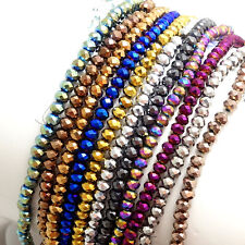 Rondelle Faceted Crystal Glass Loose Spacer Beads Wholesale 3mm/4mm/6mm/8mm