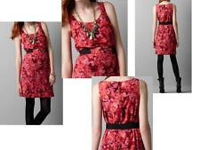 Ann Taylor Loft Berry Abstract Print Dress Size 8 NWT