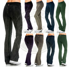 New Women T-PARTY Mineral Wash Yoga Pants THICK COTTON Casual Lounge S M L - USA