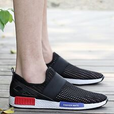New Mens Breathable Slip On Mesh Running Leisure Canvas Loafer Casual Shoes D-1