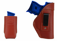 NEW Barsony Burgundy Leather IWB Holster + Mag Pouch for Bersa Compact 9mm 40 45