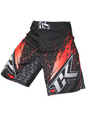 Contract Killer CK Stained S2 Fight Shorts (Black/Red) - bjj mma ufc