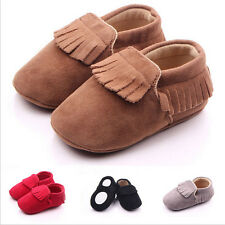 Baby Tassel Leather Shoes Infant Boy Girl Toddler Moccasin Shoes 0-18Months JCAU
