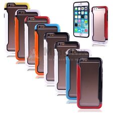 """Colorful TPU Bumper Frame Soft Silicone Case cover w/Button for iPhone 6 6S 4.7"""""""