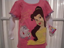 NWT Disney Belle Appliqued Short Sleeve Shirt-4-6X
