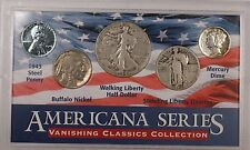 "1944 D ""Americana Series Vanishing Classics"" Silver Walking Half Coin Standing"
