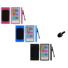 Color TPU Rubber Case Cover Belt Clip+Mini Stylus for iPod Nano 7th Gen 7 7G