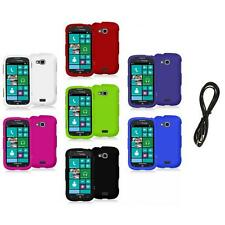 Color Hard Rubberized Case Cover+6FT Aux for Samsung Ativ Odyssey i930