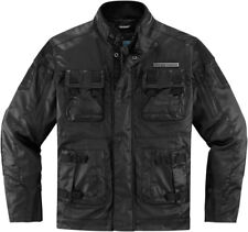 Icon 1000 Black Mens Forestall  Motorcycle Jacket