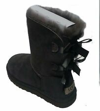 UGG AUSTRALIA WOMENS Bailey Bow  BOOTS Grey STYLE 1002954