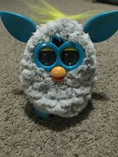 "Furbies doll * Rain Cloud Furby * blue yellow gray 2012 Hasbro 6"" full size NICE"
