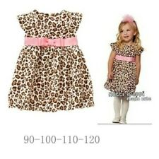 New Baby Girls Leopard Elegant Party Dresses Clothes Outfit size 6M- 4Years