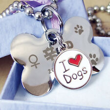 DIY Pet id Tags Dog Cat Tag Dog Identification Customized Name Address Telephone