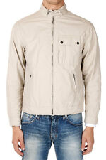 SALVATORE FERRAGAMO Man Beige Mixed Cotton Jacket New with Tags and Original