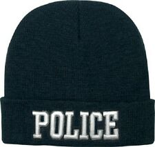 Rothco 5449 Deluxe Black Police Embroidered Watch Cap