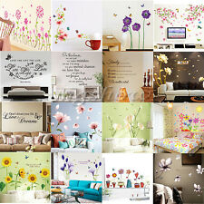 Flowers Butterfly Mural Wall Sticker Decal Home DIY Living Room Decor Vinyl Art