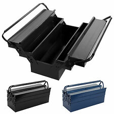 """21""""Heavy Duty Metal Cantilever Toolbox Workshop 3 Tier 5 Tray Toolchest Storage"""