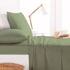 800TC Egyptian Cotton DUVET COVER Sateen Solid Moss