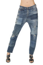 DIESEL Women Destroyed Denim Relaxed-Boyfriend EAZEE Jeans Made in Italy