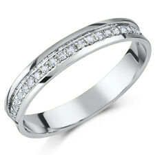 9ct White Gold Diamond Half Eternity Ring ,Quarter Carat 0.25ct Diamond Ring