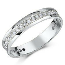 9ct White Gold Diamond Eternity Ring 4mm Third Carat 0.33ct Half Eternity Ring