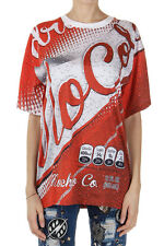 MOSCHINO COUTURE Women Multicolor Cotton Short Sleeve Crewneck Printed T-Shirt