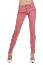 BURBERRY BRIT Women New Pink Cotton Stretch SKINNY Trousers Pants