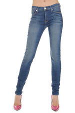 HUDSON Women Blue MIDRISE NICO Super Skinny Stretch Denim Jeans Made in USA New