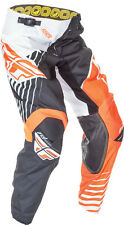 Fly Racing Mens & Youth Flo Orange/White/Black Vector Kinetic Dirt Bike Pants MX