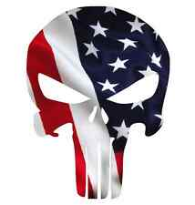 "Punisher Skull American Flag Decal Sticker Multiple Sizes 3"" to 24"" !!!"