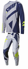 Shift Racing Grey/Blue Black Label Mainline Dirt Bike Jersey & Pants Kit MX ATV