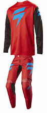 Shift Red/Black/Blue White Label Ninety Seven 97 Dirt Bike Jersey Pants Kit