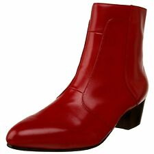 Giorgio Brutini CALLOWAY Mens Red LEATHER Side Zip Boots