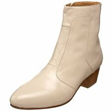 Giorgio Brutini CALLOWAY Mens Cream LEATHER Side Zip Boots