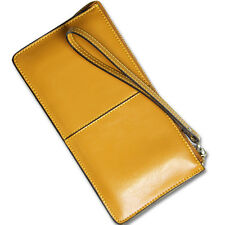 Ladies Women Genuine Leather Wallet Handbag Wristlet Long Card Holder Case Purse