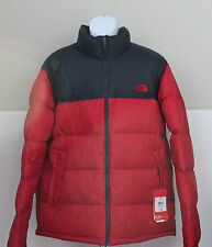 NWT The North Face Men's Nuptse 700 Goose Down Coat Jacket  Red/Gery XL,2XL