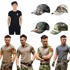 S-2XL Mens Army Camo T-Shirt Military Tactical Combat Short Sleeve Casual Shirts