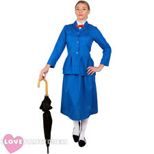 LADIES MAGICAL NANNY COSTUME BOOK CHARACTER VICTORIAN FANCY DRESS ADULT WOMENS