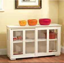 Cabinets With Glass Doors Kitchen Storage Cupboard With Adjustable Shelf