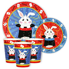 MAGIC SHOW Party / magician party 7in & 9in Plates and Cups Pack