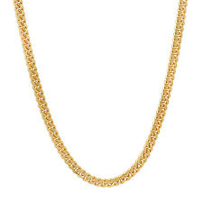 2.7mm Gold Plated Solid .925 Sterling Silver Curb Link Chain Necklace