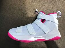 Nike Lebron Soldier 11 Think Pink White 918369 102 Youth Size 4-7 100% Authentic