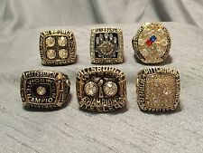 Pittsburgh Steelers Championship Ring 6pcs set Super Bowl Champions size 11 men