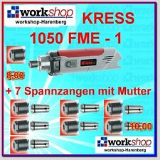 KRESS 1050 FME-1 1050FME-1 Milling motor with 8 Collets Nuts Year 2016