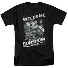 Mighty Mouse Cartoon Flexing Muscles Welcome to the Gun Show Tee Shirt S-3XL