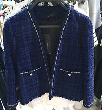 ZARA TWEED JACKET  BLUE XS-XL Ref.  2786/785