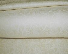 800TC Egyptian Cotton 1pc  FLAT SHEET Sateen Ivory Floral